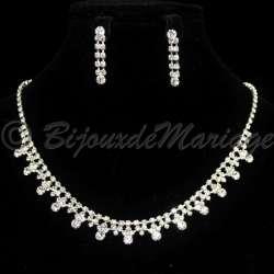 """""""TENDRESSE"""" parure de bijoux de mariage, ton argenté 3076-06082012"""